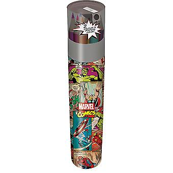 Marvel Comics retro blyant tube sett