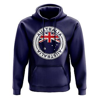Australia Football Badge Hoodie (Navy)