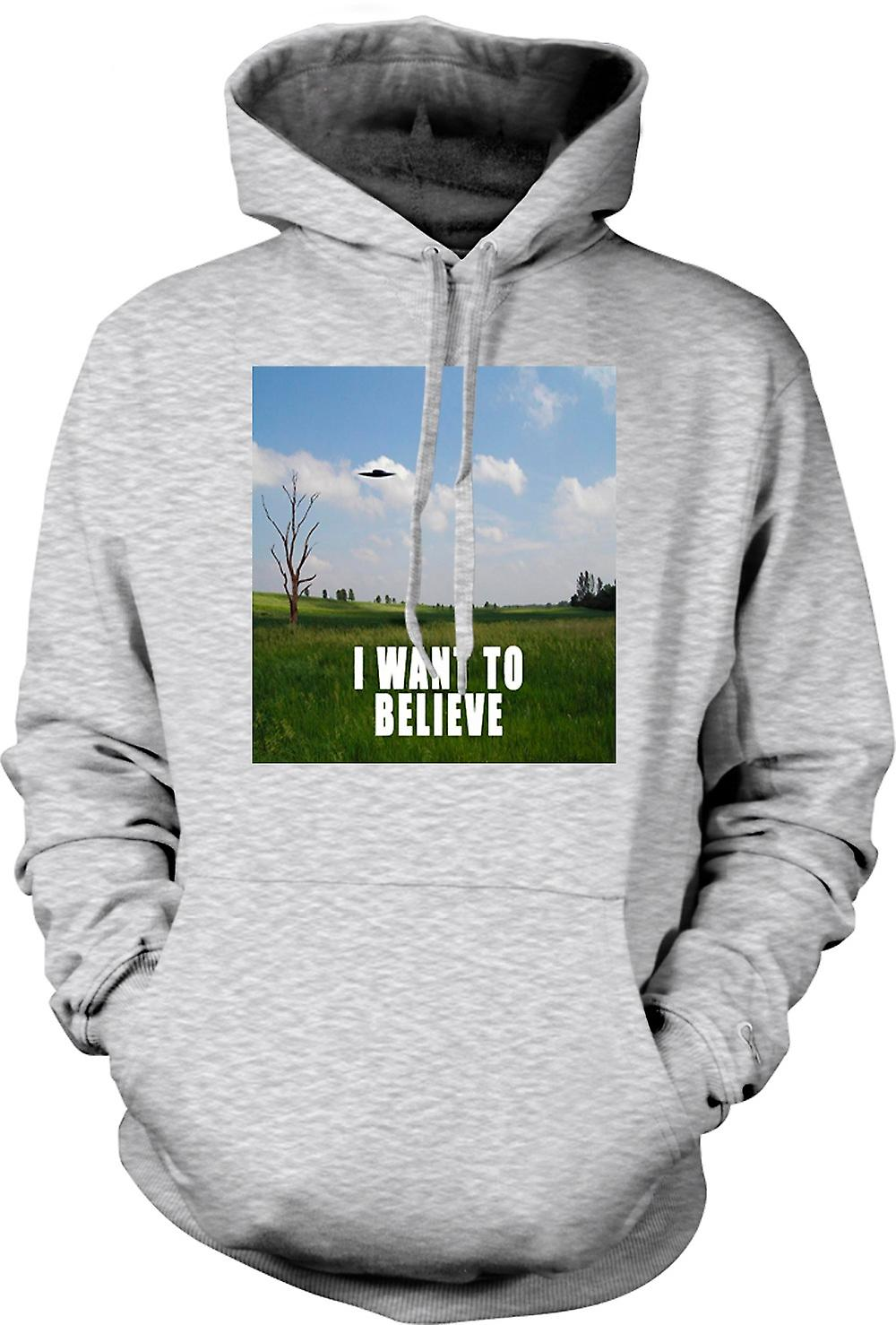 Mens Hoodie - I believe - Colour - Funny