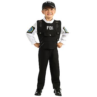 FBI Special Agent Police Officer Cop Role Play Dress Up Book Week Boys Costume