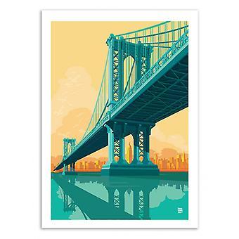 Art-Poster - Manhattan Bridge - Remko Heemskerk 50 x 70 cm