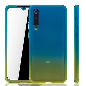 Xiaomi Mi 9 SE Phone Case Protection Case Full Cover Tank Protection Glass Blue / Yellow