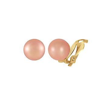 Eternal Collection Mia Pink South Sea Shell Pearl Gold Tone Clip On Earrings