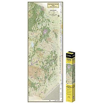 National Geographic: Continental Divide Trail in� Gift Box Wall Map (18 X 48 Inches) (National Geographic Reference Map)
