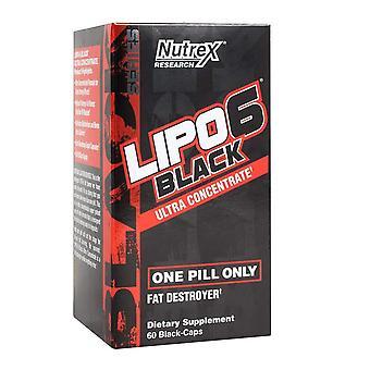 Nutrex Lipo-6 Schwarz leistungsstarke Gewichtsverlust Unterstützung Ergänzung