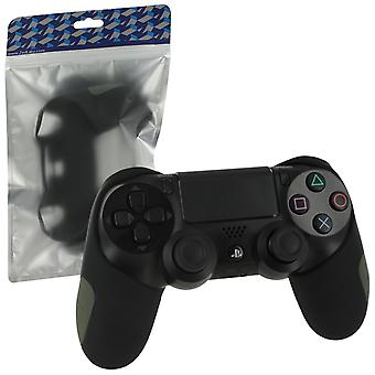 Sg-1 silicone rubber grip cover case skin for sony ps4 controllers - black