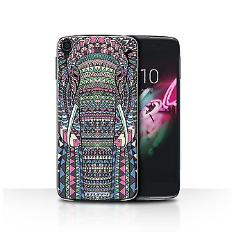 STUFF4 Дело/крышка для Alcatel OneTouch Idol 3 4.7/Elephant-Colour/Aztec животных