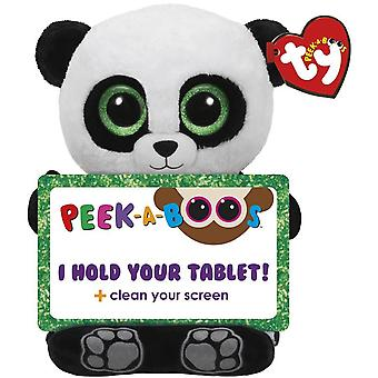TY Poo Panda Gosedjur Tablet Hållare Till Surfplatta 30cm