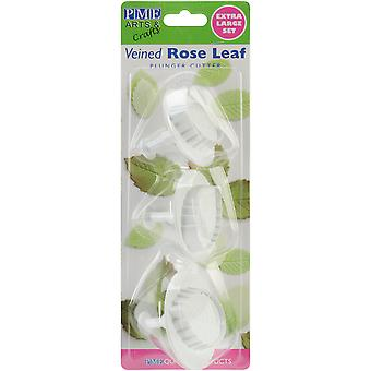 Plunger Cutter Set 3 Pieces Veined Rose Leaf Rll660