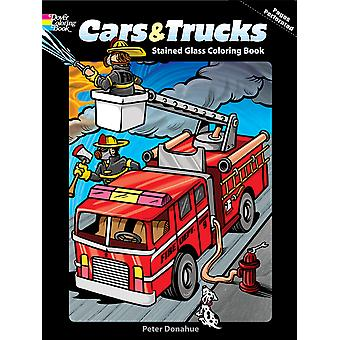 Dover Publications Cars Trucks Stained Glass Coloring Book Dov 47706
