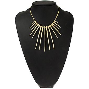 Kenneth Jay Lane Satin Gold Plated Spike Necklace