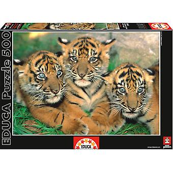 Educa 500 Pieces Little Tigers (Speelgoed , Bordspellen , Puzzels)