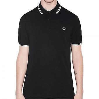 Fred Perry doble punta color de Polo negro/porcelana: BLAKS,
