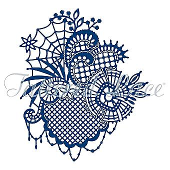 Essentials van Tattered Lace goudwerk Lace Web sterven