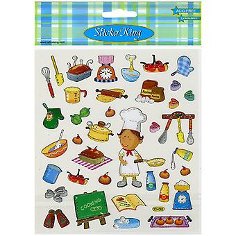Multicolored Stickers-Cooking SK129MC-495