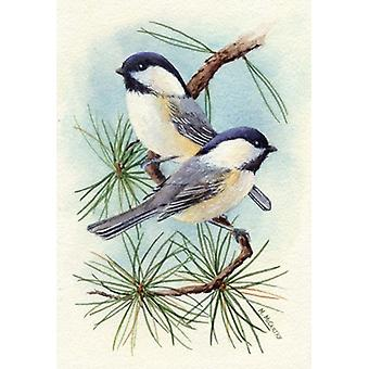 Chickadee Vignette Poster Print by Maureen Mccarthy (16 x 23)