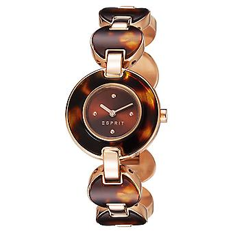 ESPRIT ladies watch wristwatch lagoon tortoise stainless steel Rosé ES106572004