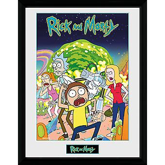 Rick et Morty Compilation encadrée Collector Print