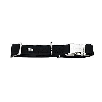Hunter Softie Alu-strong Nubuck Leather Collar Black 15mm X 30-45cm