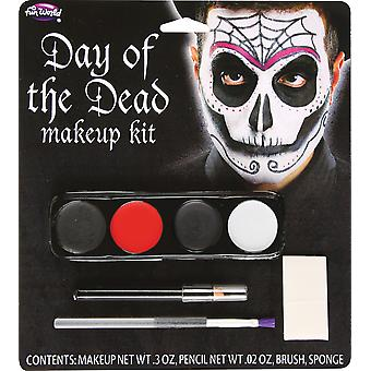 Spider Face Day Of The Dead Mexican Ghost Skeleton Skull Men Costume