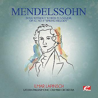 Felix Mendelssohn - Mendelssohn: Lied ohne Worte in einem großen Op 62 USA import
