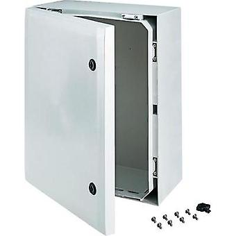 Wall-mount enclosure, Build-in casing 500 x 400 x 210 Polycarbonate (PC) Grey