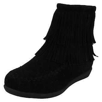 Meisjes plek op vlakke Ankle Boots H5062