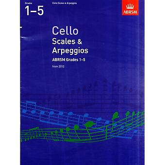 Cello Scales & Arpeggios ABRSM Grades 1-5: from 2012 (Paperback) by Abrsm
