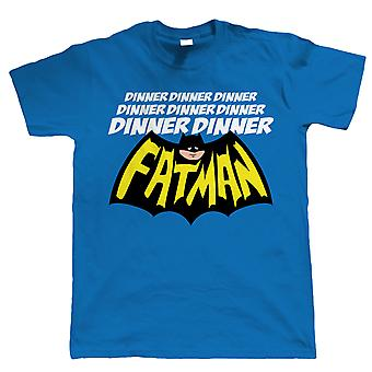 Vectorbomb, Dinner Dinner Fatman, Funny Mens T-Shirt (S to 5XL)