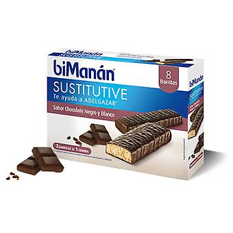 Bimanan Black and White Chocolate bar 1 u (Diet , Bars)