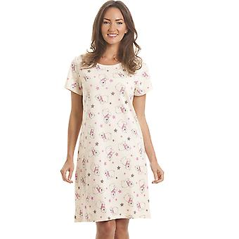 Camille Womens Ivory Polar Bear Nightdress