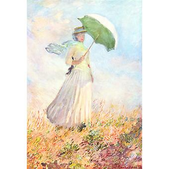 Claude Monet - Portrait with Umbrella Poster Print Giclee