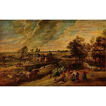 Peter Paul Rubens - Clouds over the Fields Poster Print Giclee