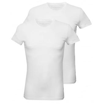 DSquared2 2-Pack Jersey Cotton Stretch Crew-Neck T-Shirts, White