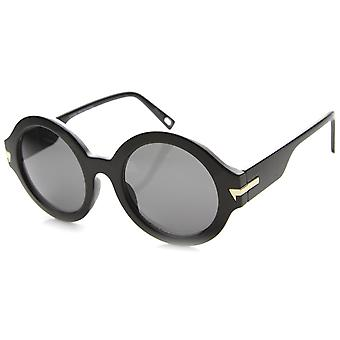 Womens runde solbriller med UV400 Protected sammensatte linsen