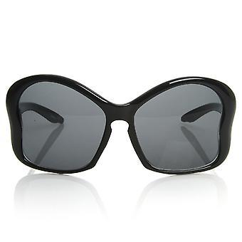 Womens Fashion Large Butterfly Shaped Oversized Sunglasses w/ Key Hole Bridge