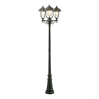 Konstsmide Parma Verdi Driveway 3 Lantern Outdoor Pole Light