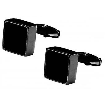denisonboston Mindy Onyx Centre Cufflinks - Black