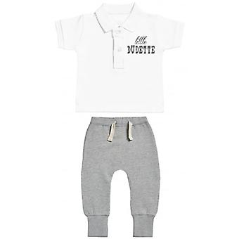 Spoilt Rotten Little Dudette Baby Polo T-Shirt & Baby Joggers Outfit Set