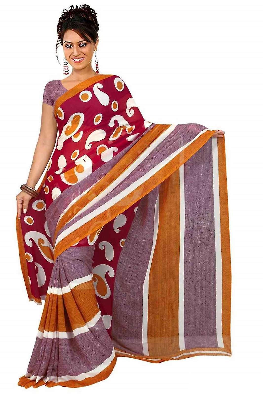 Bhagyashri Georgette gedruckt Casual Sari Sari Bauchtanz Stoff