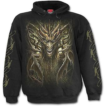Spiral - DRAGON FOREST - Men's Hoodie, Black
