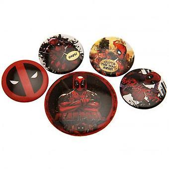 Deadpool Button Badge Set