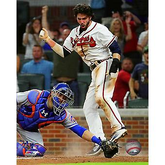 Dansby Swanson 2017 Action Photo Print