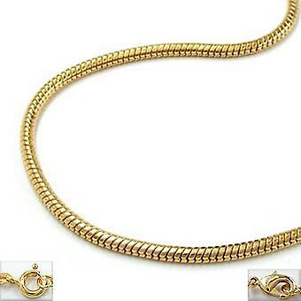 gold plated necklace gold plated snake chain, 50 cm