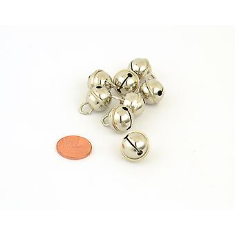 8 Silver 15mm Cat Bell Style Jingle Bells for Crafts