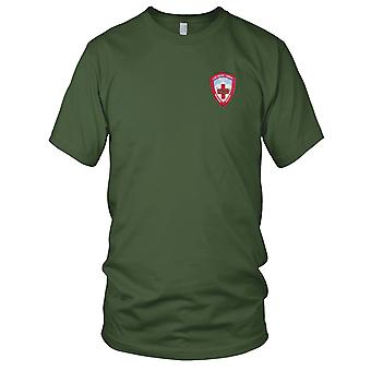 US Army - 571st Aviation Medical Company Air Ambulance Embroidered Patch - Mens T Shirt