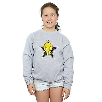 Looney Tunes Girls Tweety Pie Star Sweatshirt