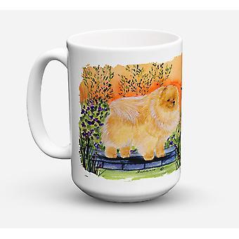 Pomeranian Dishwasher Safe Microwavable Ceramic Coffee Mug 15 ounce
