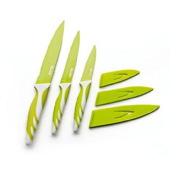 Ibili Green Kitchen Knife 8,5 + 12,5 + 15 (Kitchen , Cookware , Cut , Knives)