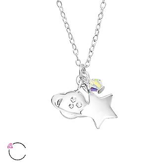 Space crystal from Swarovski® - 925 Sterling Silver Necklaces